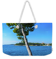 Seaside Leaning Tree In Rovinj, Croatia Weekender Tote Bag