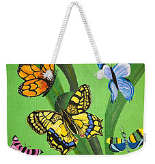 Season Of Butterflies Weekender Tote Bag by Donna Blossom