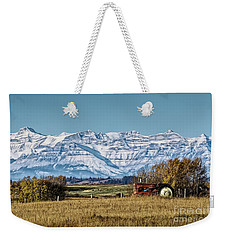 Weekender Tote Bag featuring the photograph Season's End by Brad Allen Fine Art