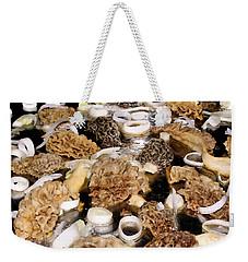 Season's First - Morel Mushrooms Weekender Tote Bag by Angie Rea