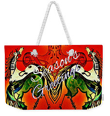 Seasons Greetings Dancing Musical Horses Weekender Tote Bag by Scott D Van Osdol