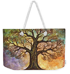 Weekender Tote Bag featuring the painting Seasons Of Life by Agata Lindquist