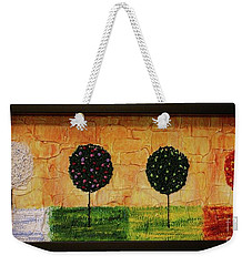 Weekender Tote Bag featuring the painting Seasons Of Love by Jane Chesnut