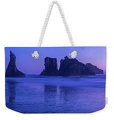 Seastack Sunset In Bandon Weekender Tote Bag
