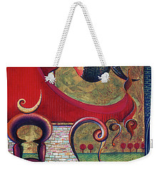 Weekender Tote Bag featuring the painting Seatime by Anna Ewa Miarczynska