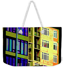 Weekender Tote Bag featuring the photograph Seattle Architecture by Yulia Kazansky