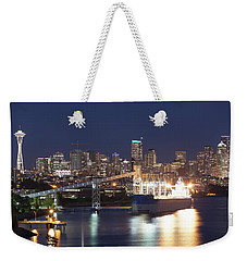 Seattle At Night Weekender Tote Bag