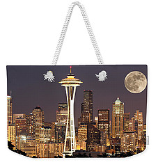 Seattle Full Moon Weekender Tote Bag by Paul Fell