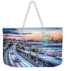 Seattle At Twilight Weekender Tote Bag by Spencer McDonald