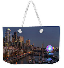 Seattle Autumn Nights Weekender Tote Bag