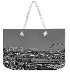 Seattle Black And White Weekender Tote Bag