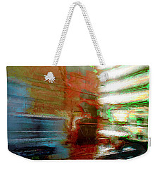 Weekender Tote Bag featuring the photograph Seattle By Train by Lori Seaman