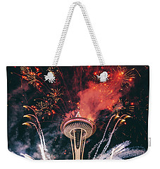 Seattle Weekender Tote Bag by Happy Home Artistry