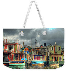 Seattle Houseboats Fine Art Photograph Weekender Tote Bag by Greg Sigrist