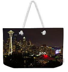Seattle Nightscape 2 Weekender Tote Bag