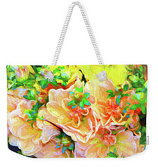 Seattle Public Market Flowers Weekender Tote Bag by Greg Sigrist