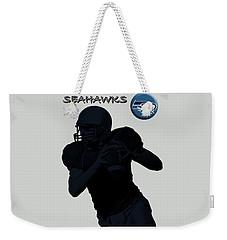 Seattle Seahawks Football Weekender Tote Bag by David Dehner