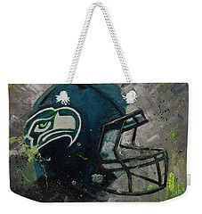 Seattle Seahawks Football Helmet Wall Art Weekender Tote Bag