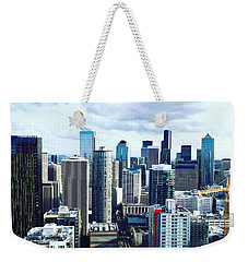 Seattle Sky Weekender Tote Bag