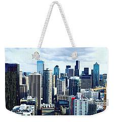Seattle Sky Weekender Tote Bag by Vanessa Palomino