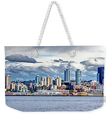 Seattle Skyline Hdr Weekender Tote Bag