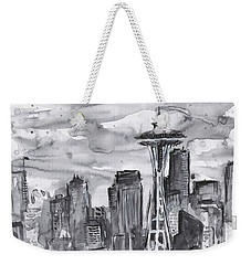 Seattle Skyline Space Needle Weekender Tote Bag by Olga Shvartsur