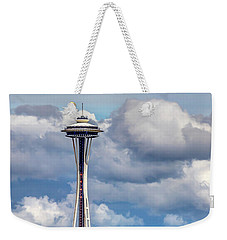 Seattle Space Needle Hdr Weekender Tote Bag by Rob Green