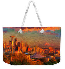 Seattle Sunset 1 Weekender Tote Bag by Caito Junqueira