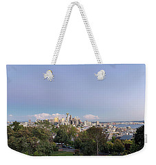 Seattle Washington City Skyline And Puget Sound View Weekender Tote Bag by Jit Lim