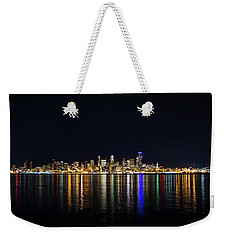 Seattle, Washington Skyline #2 Weekender Tote Bag by Patrick Fennell