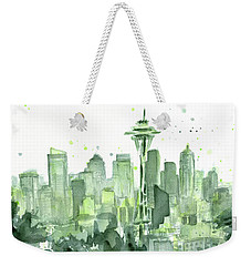 Seattle Watercolor Weekender Tote Bag by Olga Shvartsur