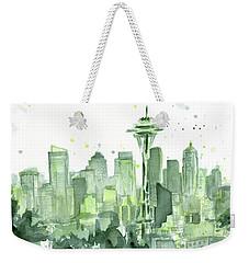 Seattle Watercolor Weekender Tote Bag