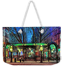 Seattle's Iron Pergola Weekender Tote Bag by Greg Sigrist