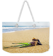Weekender Tote Bag featuring the photograph Seaweed. by Gary Gillette