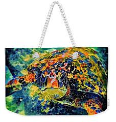 Sebastian The Turtle Weekender Tote Bag by Erika Swartzkopf