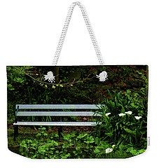 Weekender Tote Bag featuring the photograph Secluded Seating by Steve Taylor