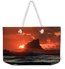 Second Beach Shark Weekender Tote Bag