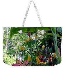 Secret Garden Cat Weekender Tote Bag by David  Van Hulst