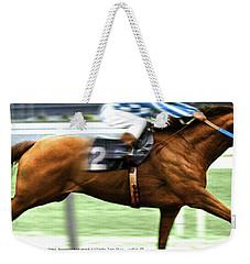 Secretariat Is Widening The Lead Now,  Painting Belmont Stakes  Weekender Tote Bag by Thomas Pollart