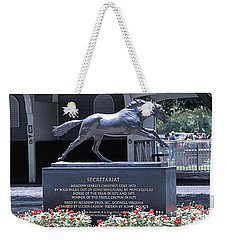 Weekender Tote Bag featuring the photograph Secretariat by  Newwwman