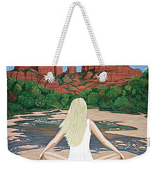 Weekender Tote Bag featuring the painting Sedona Breeze  by Lance Headlee