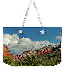 Weekender Tote Bag featuring the photograph Sedona Panoramic II by Bill Gallagher