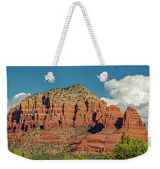 Weekender Tote Bag featuring the photograph Sedona, Rocks And Clouds by Bill Gallagher