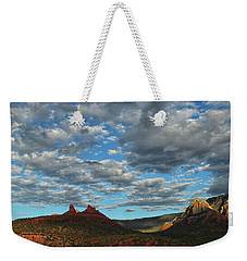 Weekender Tote Bag featuring the photograph Sedona Skies 0013 by Tom Kelly