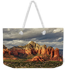 Weekender Tote Bag featuring the photograph Sedona Skyline by James Eddy