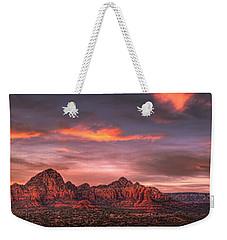 Sedona Sunset Panorama Weekender Tote Bag
