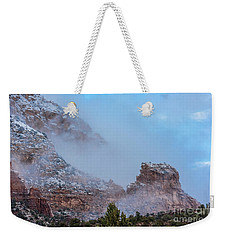 Weekender Tote Bag featuring the photograph Sedona Winter by Sandra Bronstein