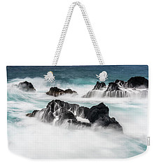 Weekender Tote Bag featuring the photograph Seduced By Waves by Jon Glaser