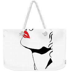 Seduction With Red Lips - Sharon Cummings Weekender Tote Bag by Sharon Cummings