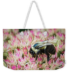 Weekender Tote Bag featuring the photograph Sedum Bumbler by Bill Pevlor